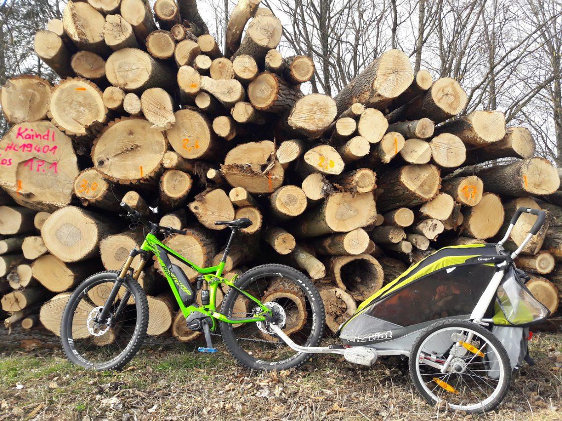 Faszination E-Bike Blog - MTB mit Fahrradanhänger